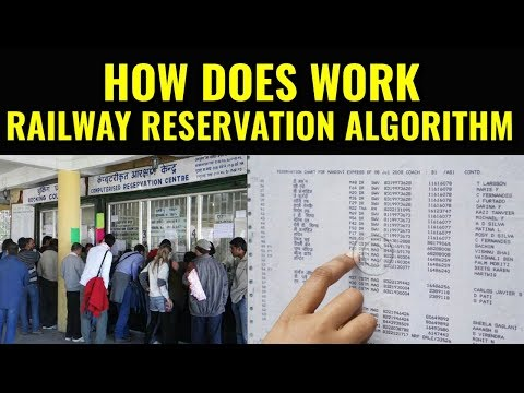 How does work railway reservation algorithm?
