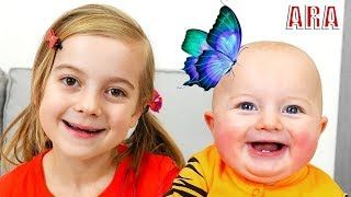 Ulya والأم تلعب معا في ألعاب الأطفال