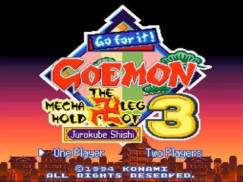 SNES Ganbare Goemon 3: Shishi Juurokubee No Karakuri Manjigatame