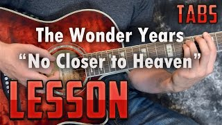 The Wonder Years-No Closer to Heaven-Guitar Lesson-Tutorial-Acoustic songs-Chords and Rhythm-tab