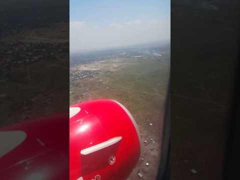 KQ 554 landing at FIH N'djili airport kinshasa