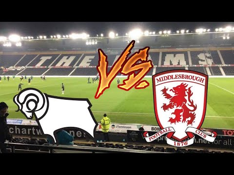 DERBY COUNTY VS MIDDLESBROUGH~HOME VLOG~ RACE FOR THE PLAYOFFS