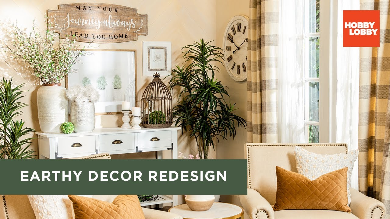 Earthy Decor Redesign Diy Room Makeover Hobby Lobby Youtube
