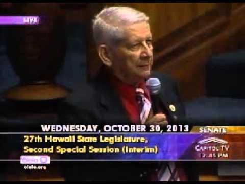 Hawaii SB1 Senator Sam Slom Oct 30, 2013