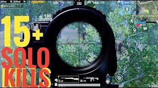 M24 AMAZING HEADSHOT THROUGH TREES || 15+ KILLS || SOLO VS SQUAD || PUBGMOBILE...!!