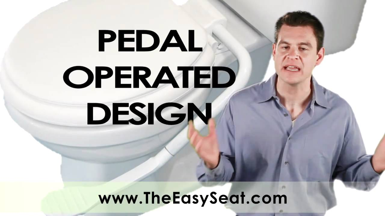 self opening toilet seat.  EASYSEAT The Toilet Seat WIth A Pedal YouTube
