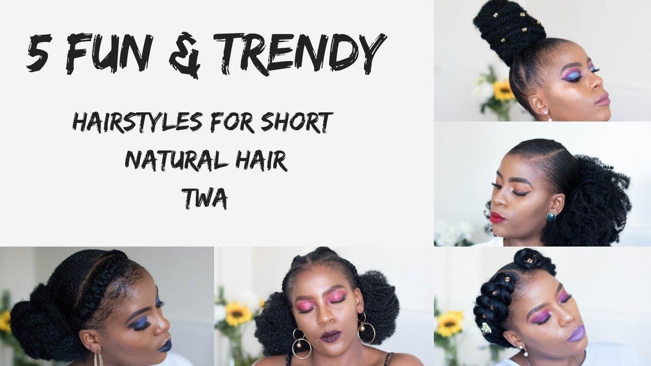 5 cute & fun spring natural hairstyles