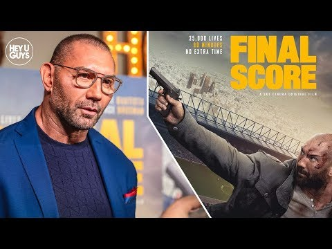 Dave Bautista gives us the Final Score at the premiere of his new action Thriller