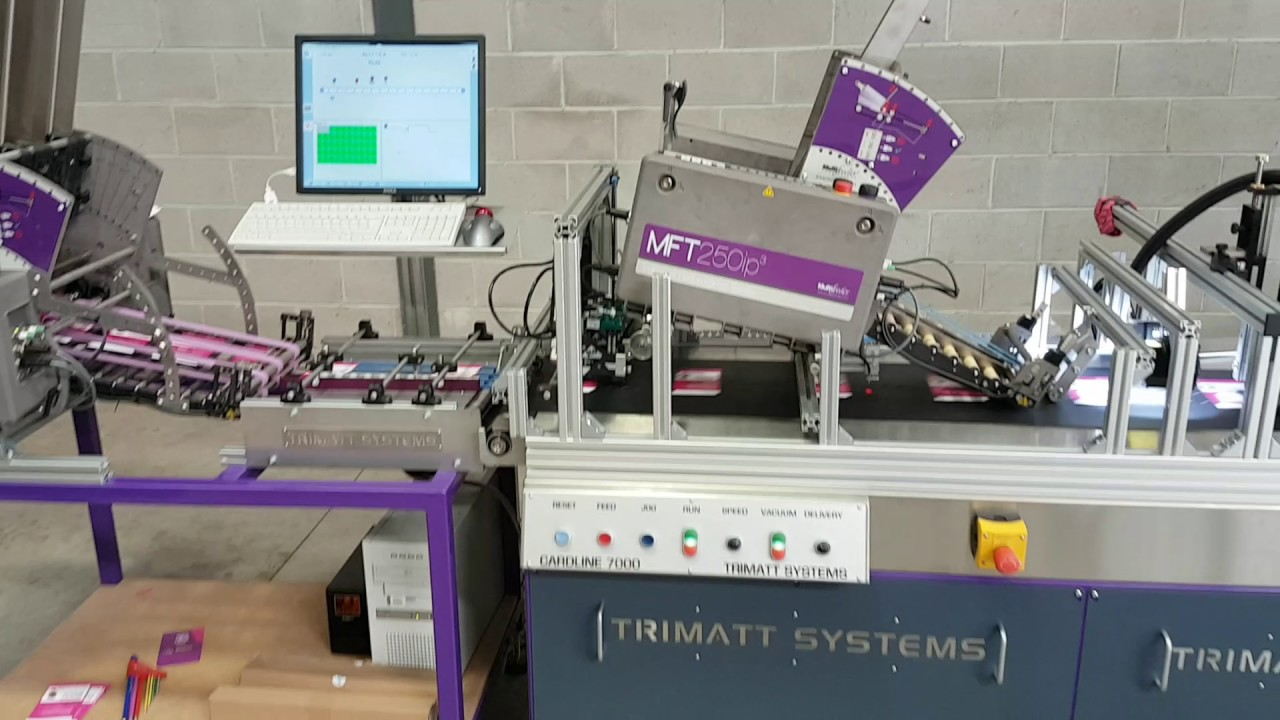 Trimatt cardline 7000 sim packing automation youtube trimatt cardline 7000 sim packing automation malvernweather Choice Image