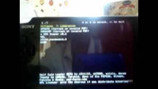 PSP 3000 Runs HOMEBREW with half bite loader