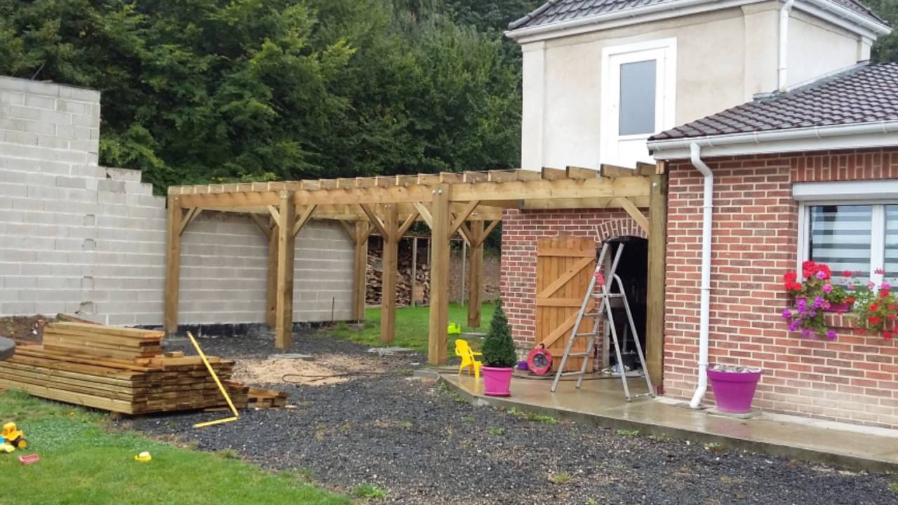Hervorragend CONSTRUCTION D'UNE TERRASSE EN BOIS EN HAUTEUR - YouTube FT94