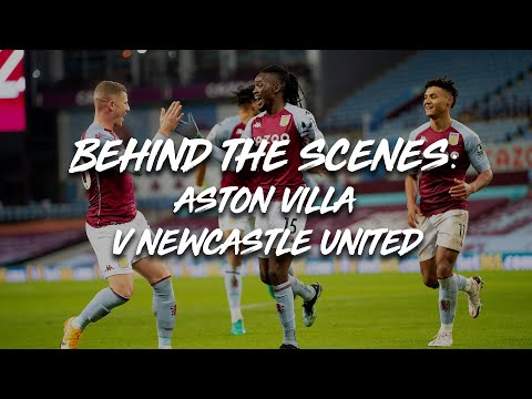 BEHIND THE SCENES | Go PITCHSIDE for Aston Villa 2-0 Newcastle