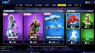 Fortnite ITEM SHOP 9 février 2019 ( Guan Yu Skin - Guandao Pickaxe Available)