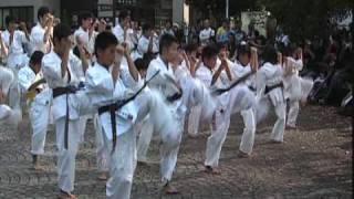 2009年11月1日、むつめ祭の演武会の様子。(前編) ・基本 ・板割り(少...