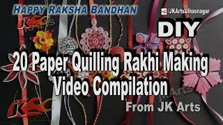 20 Paper Quilling Rakhi Making  Videos Compilation | DIY How to make Rakhi | JK Arts  1037