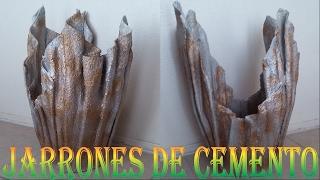 JARRONES DE CEMENTO