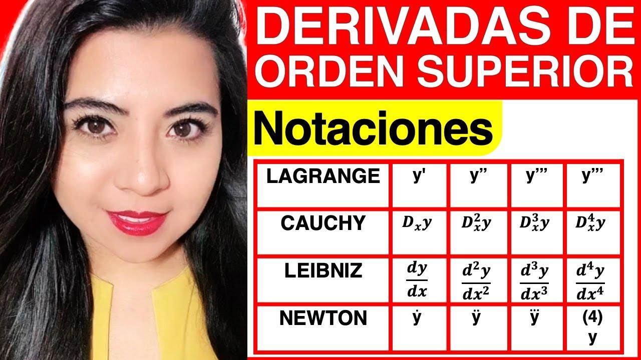 Download NOTACIONES de las DERIVADAS de ORDEN SUPERIOR (EXPLICACIÓN)