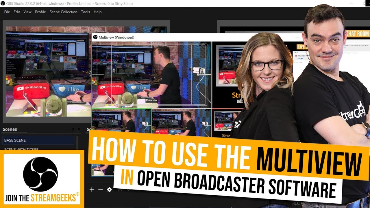How to use the OBS Multiview - StreamGeeks