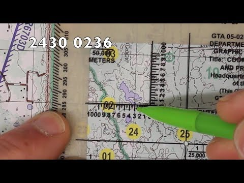 How To Plot 8 Digit Grid Coordinates