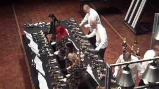 Arsis handbell ensemble playing Pizzicato Polka