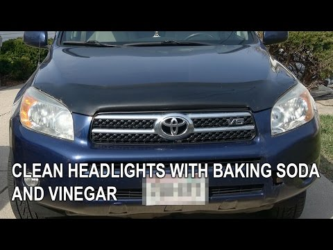 RWV: Clean headlights with Baking Soda and Vinegar to make it new again