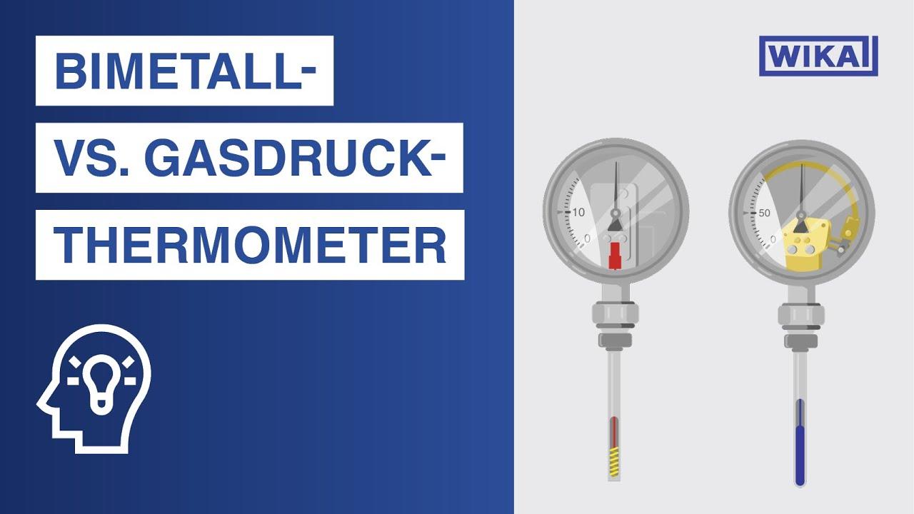 Bimetall- vs. Gasdruck-Thermometer | Was ist der Unterschied?