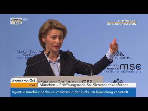 Ursula von der Leyen und Florence Parly bei der 54. Münchner Sicherheitskonferenz am 16.02.18
