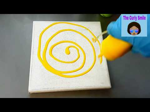 DIY Acrylic pouring on canvas for beginners ||Acrylic pour painting || The Curly Smile