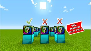 MINECRAFT But Which Block is LUCKIEST (unlucky)