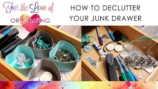 Decluttering The Kitchen Junk Drawer On A Budget | Bonus Diy Organizing Project