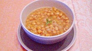 Minestra/Zuppa di ceci e rosmarino - ricetta vegetariana/vegana con pentola a pressione