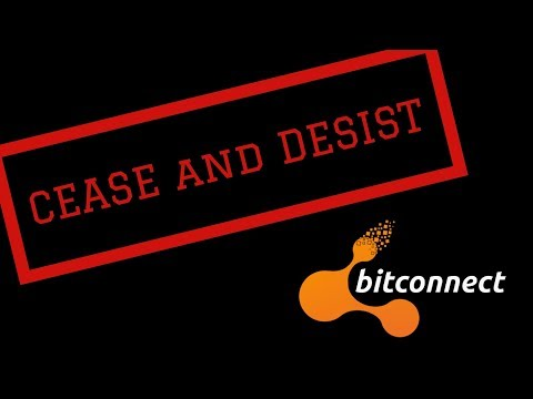 Bitconnect ordered to Cease and Desist!