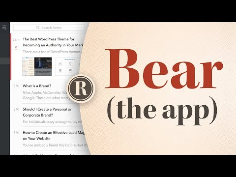 How to Use Bear App to Write Everything (Mac Only)
