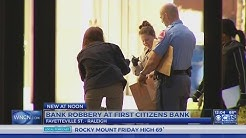 Downtown Raleigh First Citizens Bank robbed, police say