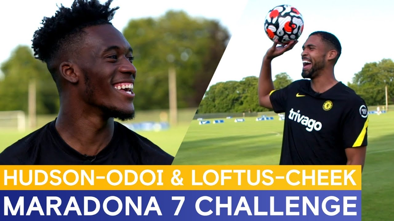 Callum Hudson Odoi & Ruben Loftus Cheek Take On The Maradona 7 Challenge! 🤣