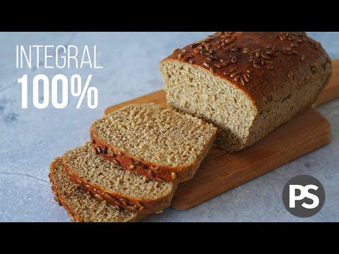Pan Molde 100% INTEGRAL | sin huevo, sin lácteos y fácil | (VEG) AUXY