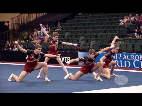 2012 Acrobatic Worlds   LAKE BUENA VISTA, USA   Men's Group Final   We are Gymnastics!