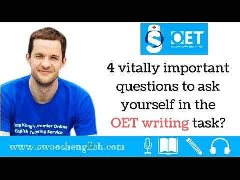 4 vitally important questions to ask yourself in the OET writing task?