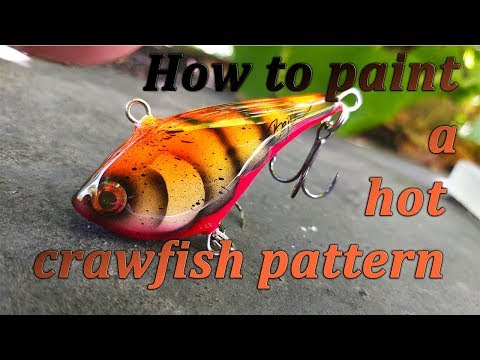 Lure Painting Tutorial. How To Paint A Hot Craw Fish Pattern