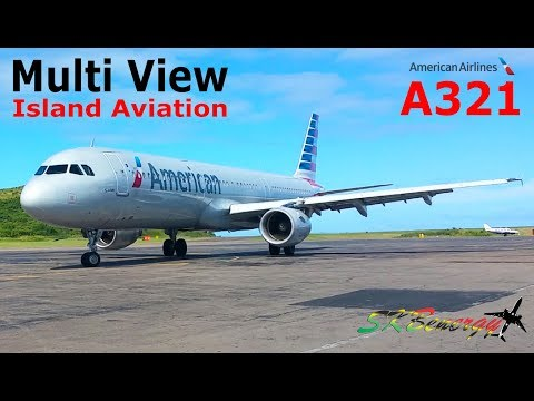 American Airlines A321 !!! arrival from Miami and departure to Baltimore from St. Kitts