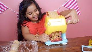 لعبة ماكينة صنع المعكرونة والنودلز الحقيقية! العاب طبخ للبنات و للأطفال !  pasta spaghetti Machine