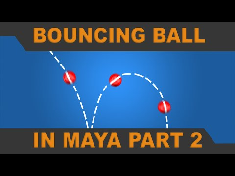How to Animate a Bouncing Ball in Maya