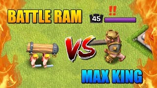 BATTLE RAM vs MAX KING! Clash of Clans New Update Hero Challenge!