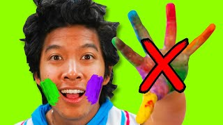 Don't Touch Your Face! Paint Challenge to Learn About Germs!