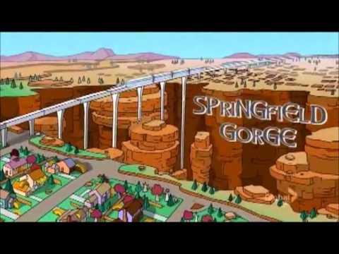 Пародия Симпсонов на заставку телесериала Игра престолов (Game of Thrones)