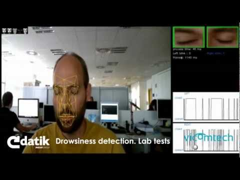 Face detection and eye detection for drivers