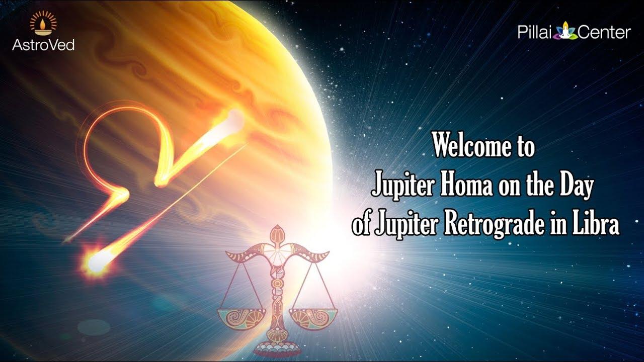 Jupiter Homa on the Day of Jupiter Retrograde in Libra