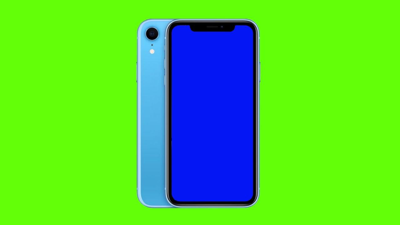 Apple Iphone Xr Blue Green Screen Footage Free