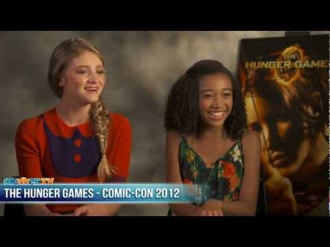 The Hunger Games Willow Shields & Amandla Stenberg Talk DVD Release