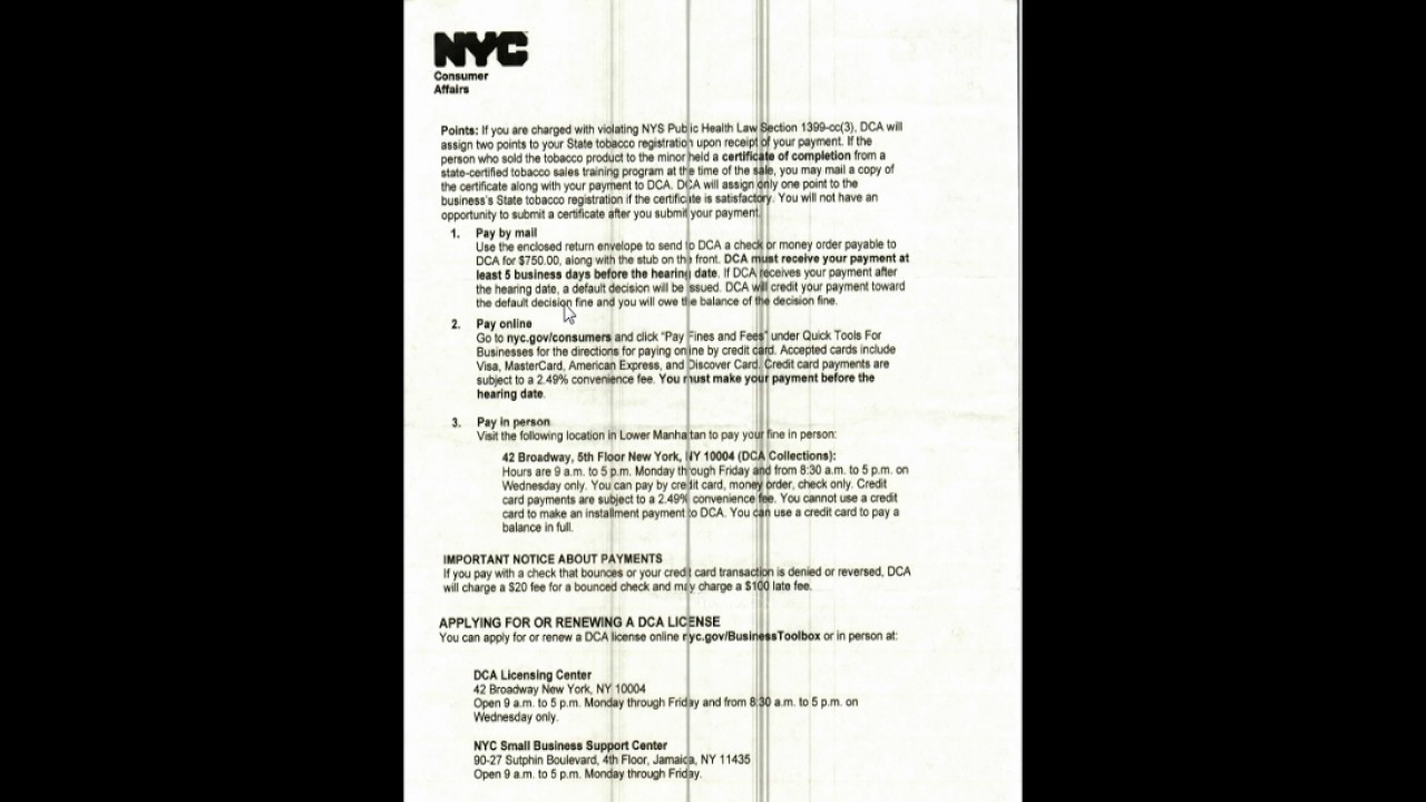 Points in nys cigarettes to minor and violation youtube points in nys cigarettes to minor and violation magicingreecefo Choice Image